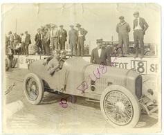 SPORT  Course Automobile JEAN CHASSAGNE  Et Son Mécanicien SUR  VOITURE  BALLOT  CIRCUIT  Indianapolis 500  1920 Cla Jau - Automobili