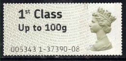 GB 2008 - 15 QE2 1st To 100gms Post & Go Large Print ( F1431 ) - Great Britain