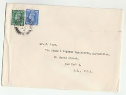 1951 GB COVER  1d 1 1/2d Stamps To USA  London SW1 9 Cds Pmk - 1902-1951 (Kings)