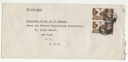 1948 Air Mail GB COVER  2x 1/-  1948 OLYMPICS  Stamps To USA , London WC  103? Cds Pmk , Olympic Games - 1902-1951 (Kings)