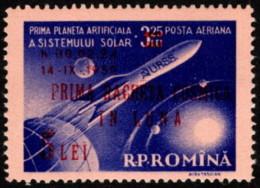 ROM SC #C70 MNH 1959 1st Russian Rocket To Reach Moon, W/surcharge CV $13.50 - Posta Aerea