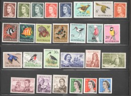 1966  First Decimal Definitive Series Queen, Birds, Fishes, Navigators, Coils  SG 382-405a MM - MH - 1966-79 Elizabeth II