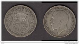 Angleterre, Great Britain, 1921, Half Crown, Argent, Silver, GEorge V - 1902-1971 : Monnaies Post-Victoriennes