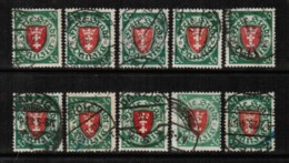 DANZIG   Scott # 181 USED WHOLESALE LOT OF 10 (WH-231) - Stamps