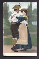 CPA AUTRICHE - COUPLE Dansant - FEMME Robe En Tissu - COUPLE Gauffré - Cartes Postales