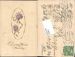 576425,Namenstag Art Deco Jugendstil Blumen - Feiern & Feste
