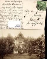 576417,tolle Foto-AK Bad Vöslau Villa 1913 Familie Scheibe - Österreich