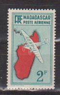 MADAGASCAR       N°  YVERT  :  PA  5  NEUF AVEC  CHARNIERES      (  CH 23  ) - Poste Aérienne