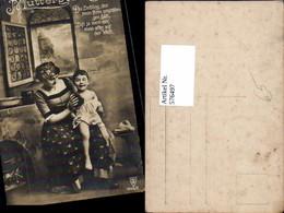 576497,Foto-AK Frau Portrait Frauen Mädchen Mutter Mutterglück - Frauen