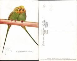 576019,Künstler AK Lawson Wood Wellensittich Vogel Vögel Pub Primus AK 2506 - Vögel