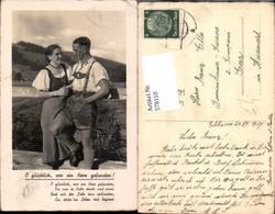 578110,Liebe Paar In Tracht Lederhose O Glücklich Wer Ein Herz Gefunden Spruch - Paare
