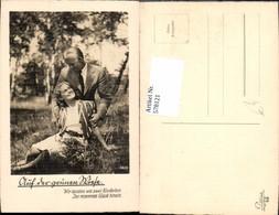 578121,Foto Ak Liebe Paar Auf Der Grünen Wiese Text Blumen - Paare