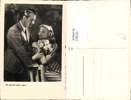 578122,Foto Ak Liebe Paar Ich Muß Dir Etwas Sagen Blumen Nelken - Paare