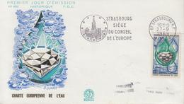 Enveloppe  FDC  Flamme  1er  Jour   Charte  Européenne  De  L' Eau   STRASBOURG   1969 - 1960-1969