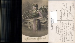 576471,Foto-AK Frau Portrait Frauen Mädchen Kleid Heureuse Annee - Frauen