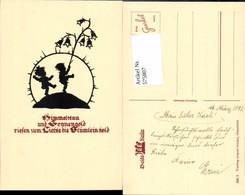 575807,Künstler AK Scherenschnitt Silhouette Kinder Pub Gunkel 250/1 - Scherenschnitt - Silhouette
