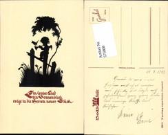 575808,Künstler AK Scherenschnitt Silhouette Engel Pub Gunkel 250/2 - Scherenschnitt - Silhouette