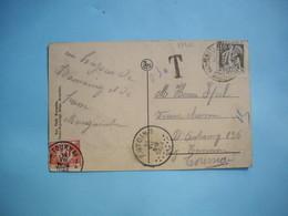 MARCOPHILIE  - CPA Taxée -  Oblitération ANTOING à  Points  -  1933  -  Circulée De Antoing à Tournai  -  BEAURAING - Postmarks - Points