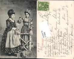 575866,Volkstypen Typen Gruß Aus Der Wachau Krems Spitz Krug Ybbs Stp. - Trachten