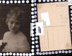 576755,Foto-AK Frau Portrait Haarband Haarschmuck Erotik Risque - Frauen