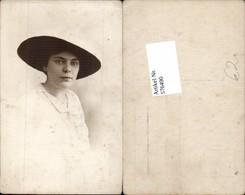 576490,Foto-AK Frau Portrait Frauen Mädchen Hutmode Hut Mode - Frauen