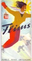 Brochure Dépliant Faltblatt Toerisme Tourisme - Flims - Schweiz Suisse + Skimap - Ca 1958 - Dépliants Touristiques