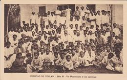SRI LANKA--MISSIONS DE CEYLAN--un Missionnaire Et Son Patromage---voir 2 Scans - Sri Lanka (Ceylon)