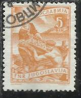 JUGOSLAVIA YUGOSLAVIA 1951 1952 ECONOMY & INDUSTRY AGRICOLTURE ECONOMIA E INDUSTRIA AGRICOLTURA 5d USATO USED OBLITERE' - 1945-1992 Repubblica Socialista Federale Di Jugoslavia