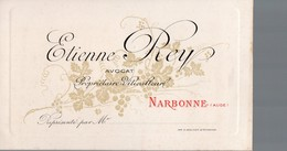 Narbonne (11 Aude) Carte ETIENNE REY  Vins  (PPP14735) - Advertising