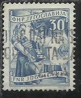 JUGOSLAVIA YUGOSLAVIA 1951 1952 ECONOMY & INDUSTRY AGRICOLTURE ECONOMIA E INDUSTRIA AGRICOLTURA 30d USATO USED OBLITERE' - 1945-1992 Repubblica Socialista Federale Di Jugoslavia
