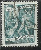 JUGOSLAVIA YUGOSLAVIA 1951 1952 ECONOMY & INDUSTRY AGRICOLTURE ECONOMIA E INDUSTRIA AGRICOLTURA 50d USATO USED OBLITERE' - 1945-1992 Repubblica Socialista Federale Di Jugoslavia