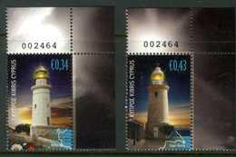 CIPRO / CYPRUS 2011** - Fari / Lighthouses - 2 Val. MNH, Come Da Scansione. - Fari