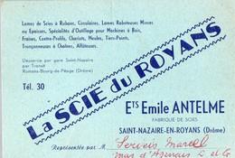 Saint Nazaire En Royans (26 Drôme) Carte LA SCIE DU ROYANS émile Antelme   (PPP14743) - Advertising