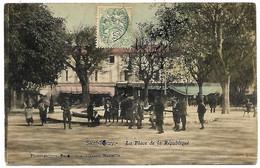 A2 BDR 13 SAINT REMY DE PROVENCE La Place De La République 1906 Colorisée BE - Saint-Remy-de-Provence