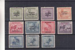 Ruanda Urundi - COB Entre 62 / 76 * / ** - Bovins - Coiffures - Textile - Tir à L'arc - - Ruanda-Urundi
