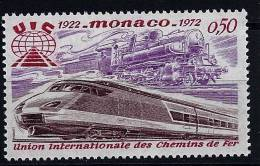 "Monaco YT 879 "" Locomotives Ancienne Et Moderne "" 1972 Neuf** - Mónaco"