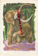 GRAVURE ELEPHANT - DE RENE POIRIER 120 HISTOIRES DE BETES - 1957 - Estampes & Gravures