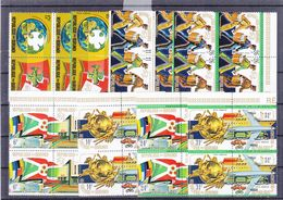U.P.U. - Burundi - COB 644/51 + PA 346/53 ** - En Paire - Trains - Motos - Voitures - Bateaux - Drapeaux - Valeur 39 € - 1970-79: Neufs