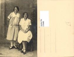 576486,Foto-AK Frau Portrait Frauen Mädchen Mode Schwestern - Frauen