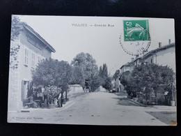 CPA D01 Villieu Grande Rue - Autres Communes
