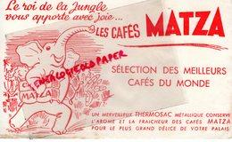 BUVARD ELEPHANT - CAFES MATZA - - Animales