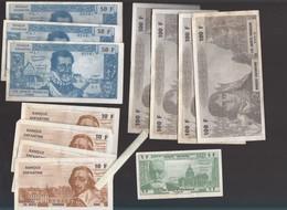 Monnaie Fictive -  Banque Enfantine - 12 Billets En Francs Diverses Valeurs - Les Jouets Francais - Specimen