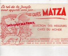 BUVARD ELEPHANT - CAFES MATZA - Animaux