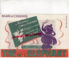 BUVARD ELEPHANT - THE DE L' ELEPHANT - D' APRES R.L. DUPUY - Animales