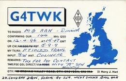Amateur Radio QSL Card G4TWK Harry Hart Goring By Sea 1996 - Radio Amateur