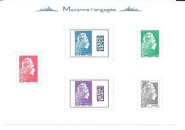 2018 - BLOC NEUF  MARIANNE L'ENGAGEE  NON PLIE - Mint/Hinged