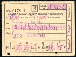 A2811 - Fahrschein Ticket - DR Deutsche Reichsbahn - Zwickau Hildburghausen - Chemins De Fer