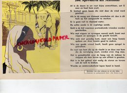 BUVARD ELEPHANT -  PROVERBE MALAISIE- SPREUKEN UIT MALABAR- RARE BUVARD RIGIDE - Animaux