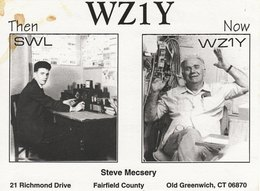 Amateur Radio QSL Card WZ1Y Steve Mecsery Old Greenwich CT USA 1997 - Radio Amateur