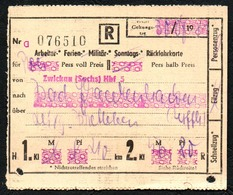 A0196 - Fahrschein Fahrkarte Ticket - DR Deutsche Reichsbahn - Bad Frankenhausen - Chemins De Fer